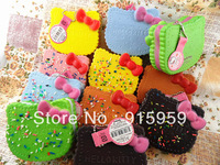 10 cm  hello kitty biscuit Squishy squishies buns  cell phone charm strap free shipping wholesales  20pcs/lot