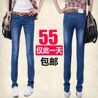Autumn 2013 women's elastic slim jeans female skinny pants pencil pants