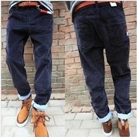 Freeshipping 2013 les corduroy slim corduroy trousers male casual pants