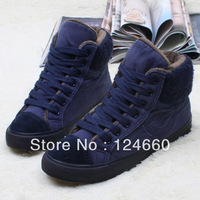 Flats cotton-padded high canvas shoes thermal winter casual men shoes women shoes