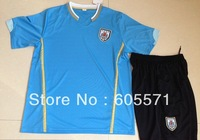 wholesales 2014 world cup Uruguay  home  blue soccer jerseys  soccer uniform shirts + shorts good quality free shipping
