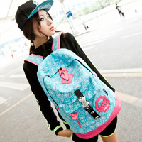 Free shipping 2013 school bag backpack preppy style travel bag canvas laptop bag