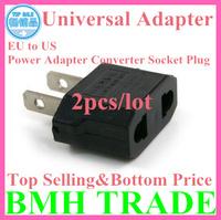 TOP SELLING&BOTTOM PRICE 2pcs*Universal Adapters Travel Plug  US Power Adapter Converter Socket Plug ,Free Drop Shipping