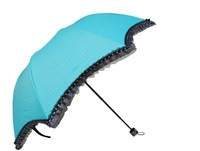 Folding umbrella uvioresistant umbrellas sun umbrella three fold umbrella princess umbrella