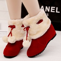 2013 hot  winter  Snow boots  with Martin  boots , red  black brown  color female winter boots free shipping