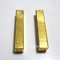 Gold bars lighter oblon open flame lighter gold personalized lighter