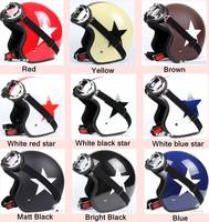 Fashion Halley EVO half capacete,women's electric bicycle Open face helmets,men's vintage Motorcycle helmet goggles,star helmet
