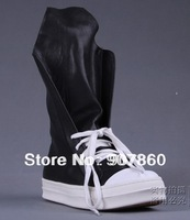 FREE SHIPPING!!! Sell like hot cakes Han edition tide high leather boots/Black men's fashion leather boots