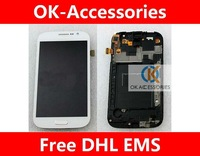 touch screen digitizer+LCD for Samsung galaxy grand i9082 with frame 10pcs/lot free shipping by DHL EMS