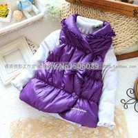 Fashion fashion female child vest winter all-match children's princess clothing top outerwear waistcoat