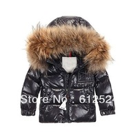 hot selling fur winter kids down jackets warm winter coat for children