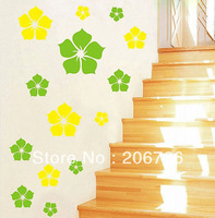 Free Shipping Flowers DIY Removable Wall Sticker Decal Home Bedroom Kids Children Decration