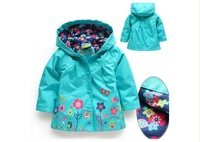 Retail New Baby Girl's Autumn Floral Jacket/Girl's Outerwear/Children's Windbreaker/Hoodies & Sweatshirts/Boy's Trench