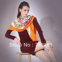 Women scarf muffler silk large facecloth slanting stripe silk cape, 28Momme, square scarf, 140cm or 90cm