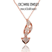 Special Promotion Big Heart White Rhinestone Slide Pendant Platinum Necklace,Elegant Necklace Jewelry ,Sweater Chain N063