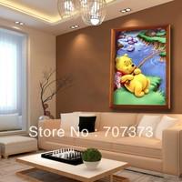 DIY diamond stitch painting decorative painting children's bedroom modern landscape Tu Weini Fishing are new models