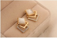 free shipping korea fashion stely Opal  earrings for women/ladies/girls  hot NEW GOODS
