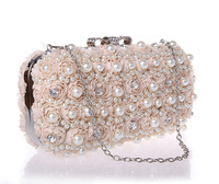 2-1193 Classics Beading Floral Elegant Evening Bag Women Charming Clutch bag Wedding Bag Handbag Bag