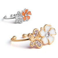 Popular butterfly flower open ring pinky ring adjustable size 4410