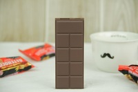 Free Shipping 1pcs/lot Chocolate shape Power Bank 2200mAh Rechargeable Backup Battery Charger For  Smart phone-Brown