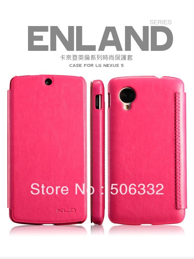 """5 cores """" Enland KLD """" Flip PU caso capa de couro para LG / Google Nexus 5 Frete Grátis(China (Mainland))"""