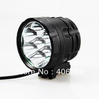 7*Cree XM-L 2 LED 3-Modes 6400-Lumen 6*18650 Battery Pack LED Bicycle Light Set Free Shipping