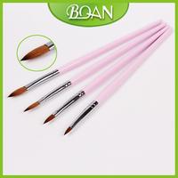 Free Shipping Professional Pure Kolinsky Acrylic Brush Nail Brush Gel And Acrylic Pen 8#