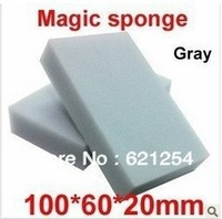 200 pcs/lot Gray Magic Sponge Eraser Melamine Cleaner,multi-functional Cleaning 100x60x20mm Wholesale & Retial