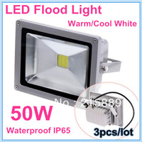 3pcs High Power AC 85~265V Flood LED Light 50W Outdoor Garden Lighting Floodlights LED Lamp Warm/Cool White Free Shipping