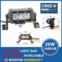 Free Shipping12V/24V 5.5 INCH 20W Cree Offroad LED Working Light Bar  Driving Light Bar 4x4 4WD Boat Truck LED Fog Light
