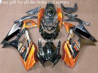 Complete fairing kit for GSXR1000 K7 07 08 2007 2008 GSXR 1000 K7 GSX-R1000 K7 07 08 2007 2008 with tank cover Orange Gold Black