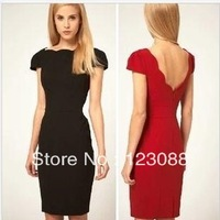 2014 New Spring And Summer  Women's Slim Short-Sleeved Dress Party Dress Stunning Wild Club&Sexy Dress Women Free Shipping
