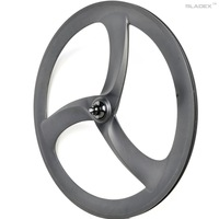 CARBON Tri Spoke Wheel Turbo 3S(Rear) - For Road Or Track; Triathlon / Time Trial Bike Wheel;3 SPOKE Clincher;