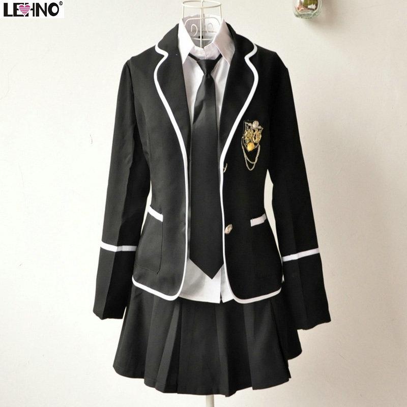 Automne et hiver uniforme scolaire filles. service de classe marin ...