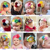 Hot sold Handmade Baby Girl's Lovely Non-woven fabric flower baby Headband Headwear Hair Infant Hair Band