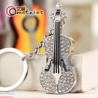 Gorgeous violin crystal usb flash drive 16gb usb flash drive personalized keychain usb flash drive gift usb flash drive