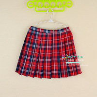 Young girl sweet preppy style pleated skirt pleated skirt plaid skirt bust skirt high waist short skirt
