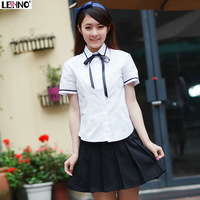 Short-sleeve sailor suit school uniform cos fashion preppystyle set summer student uniform