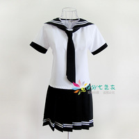 Class service sailor suit navy style one-piece dress cosplay school uniform navy blue school wear uniform preppy style