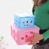 Folding plastic storage box big Small storage box finishing box storage box  ,free shipping
