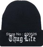12pcs/lot thug life  Black  beanie thug life Hats thug life Caps can custom any brand Beanie