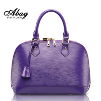 women leather handbags Fashion cowhide 2013 one shoulder cross-body portable women's handbag shell bag  designers brand