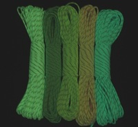 glow in the dark + reflective paracord Parachute Cord Lanyard Rope 100 ft (31m) 9 Strands Cores