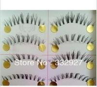 High quality false eyelashes handmade f-18 transparent natural 10 nude makeup box