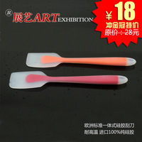 Standard one-piece silica gel cake sacrper cream knife high temperature resistance Silicone cream knife