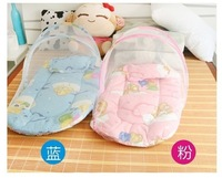 Free shippin 2014 new design cradle bed for baby ,safety protect cradle swing ,baby bed with cradle and net