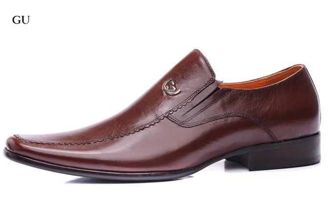 2014 couro genuíno Brown homens Oxfords sapatos de festa à noite para homens tamanho 41-46(China (Mainland))