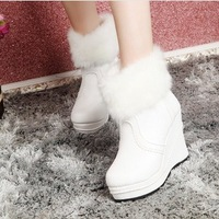 ankle boots women winter boots platforms wedges female snow rabbit boots wedge ladies' shoes sexy xx420