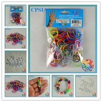 cheap multi colors rainbow loom refill bands crazy loom rubber bands rainbow loom rubber band refill 500pcs/pack- 600packs/lot