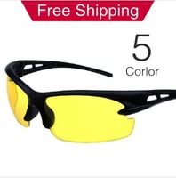 Free Shipping Night vision goggles Driving glasses Fashion Men's sports sunglasses individuality sunglasses,Multicolor B010